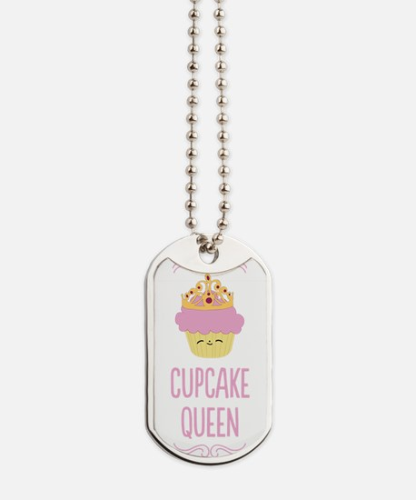 Cupcake Queen Dog Tags