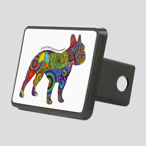 Peace Love Boston Terriers Rectangular Hitch Cover