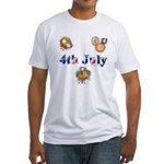 4th July Fitted T-Shirt
