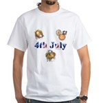 4th July White T-Shirt