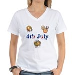 4th July Women's V-Neck T-Shirt