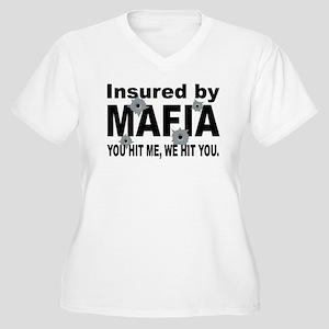 Insured by Mafia Women's Plus Size V-Neck T-Shirt