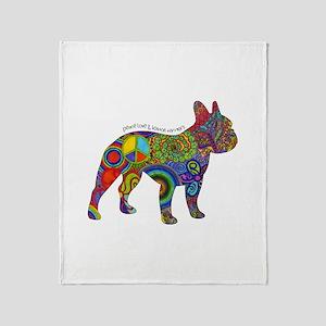 Peace Love Boston Terriers Throw Blanket