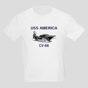 USS AMERICA CV-66 Kids Light T-Shirt