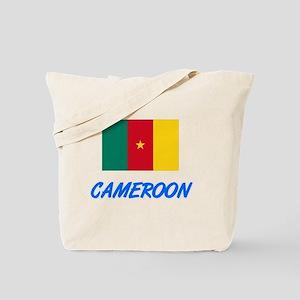 Cameroon Flag Artistic Blue Design Tote Bag