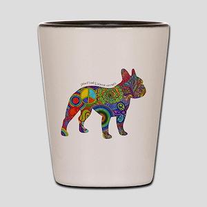 Peace Love Boston Terriers Shot Glass