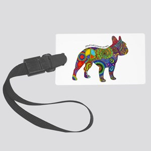 Peace Love Boston Terriers Large Luggage Tag
