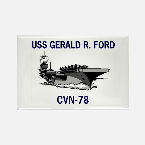 USS GERALD R. FORD Rectangle Magnet (10 pack)