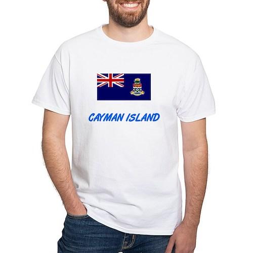 Cayman Island Flag Artistic Blue Design T-Shirt