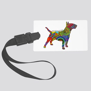 Peace Love Bull Terriers Large Luggage Tag