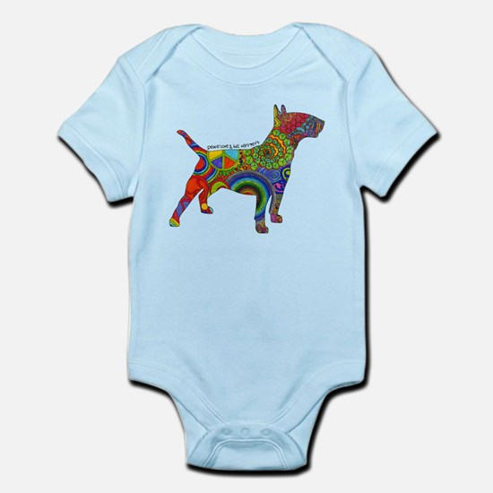 Peace Love Bull Terriers Infant Bodysuit