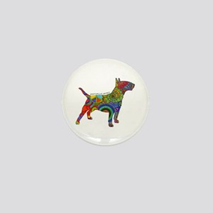 Peace Love Bull Terriers Mini Button (10 Pack)