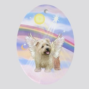 Glen of Imaal Angel in Clouds Oval Ornament