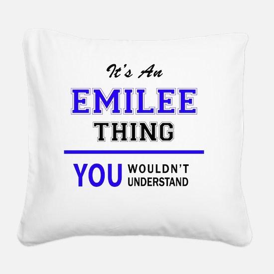 Unique Emilee Square Canvas Pillow