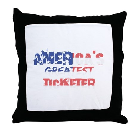 America's Greatest Ticketer Throw Pillow