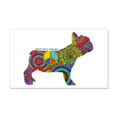 Peace Love Frenchies Wall Decal