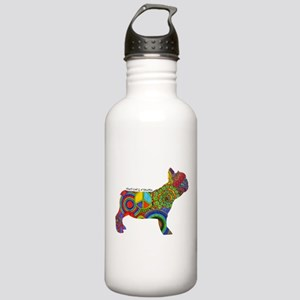 Peace Love Frenchies Stainless Water Bottle 1.0L
