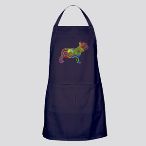 Peace Love Frenchies Apron (dark)