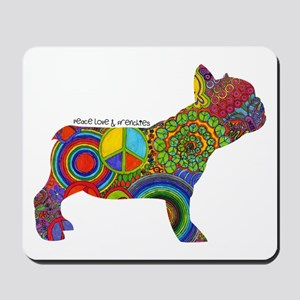 Peace Love Frenchies Mousepad