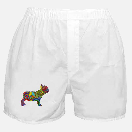 Peace Love Frenchies Boxer Shorts