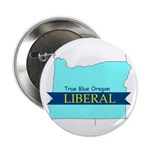 "2.25"" Button (10 pack) True Blue Oregon LIBERAL"