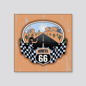 """Route 66 Desert Square Sticker 3"""" x 3"""""""