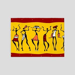 African Dancers 5'x7'Area Rug