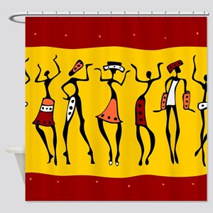 African Dancers Shower Curtain