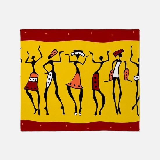 African Dancers Throw Blanket