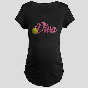 Pickleball Diva Maternity T-Shirt