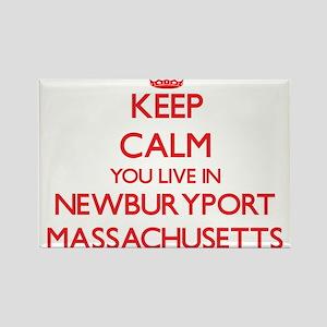Keep calm you live in Newburyport Massachu Magnets