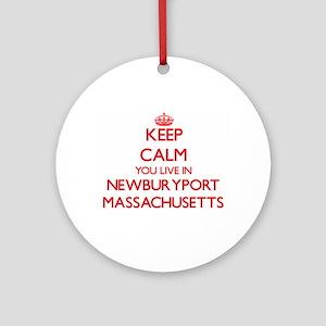 Keep calm you live in Newburyport Ornament (Round)