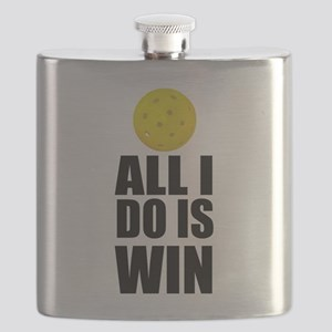 All I Do Is Win Pickleball Flask