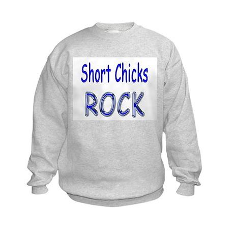 Short Chicks Rock Kids Sweatshirt