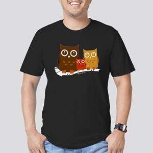 Three Owls Men's Fitted T-Shirt (dark)