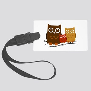 Three Owls Large Luggage Tag