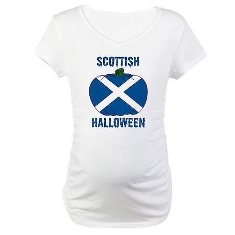 Scottish Halloween Maternity T-Shirt