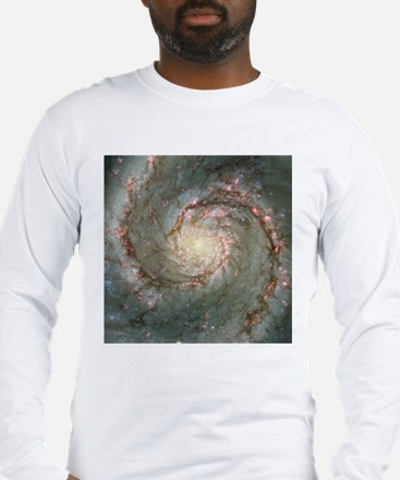M51 the Whirlpool Galaxy Long Sleeve T-S