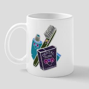 Toothbrush Toothpaste Floss Mug
