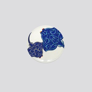 Tribal Manta Rays Mini Button