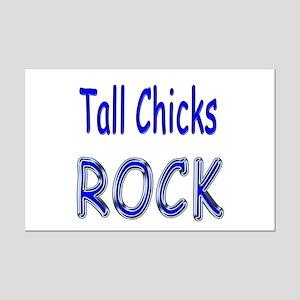 Tall Chicks Rock Mini Poster Print