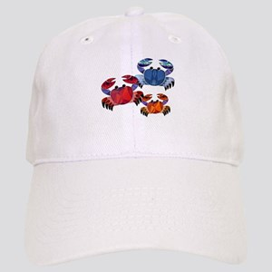 Blue & Red Mosaic Crab Trio Cap