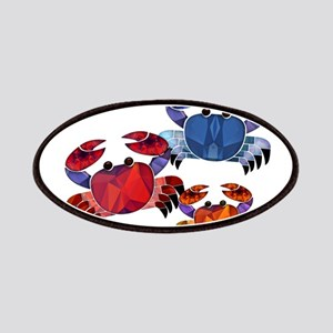Blue & Red Mosaic Crab Trio Patches