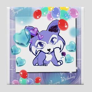 Birthday Anime Corgi Tile Coaster