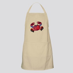 Red Mosaic Dungeness Crab Apron