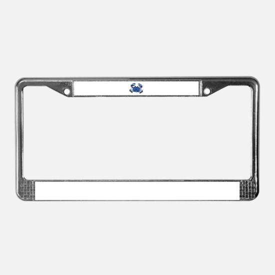 Blue Mosaic Dungeness Ctab License Plate Frame