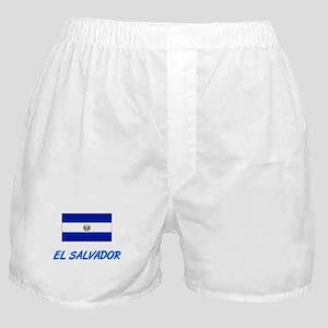 El Salvador Flag Artistic Blue Design Boxer Shorts