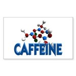 Caffeine Molecule Rectangle Sticker