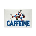 Caffeine Molecule Rectangle Magnet
