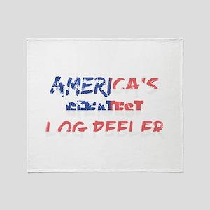 America's Greatest Log Peeler Throw Blanket